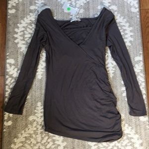 2/$20 NWT gray nursing long sleeve top